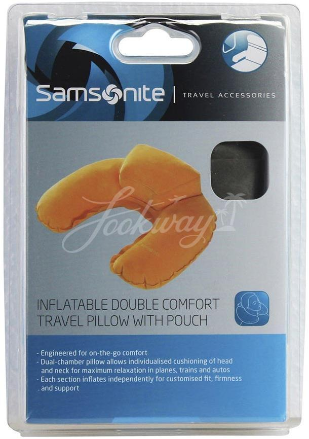 Подушка Samsonite U23*302 Infl Dble Travel Pillow/pouch